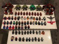 Lego marvel/dc/tv minifigures bundle over 130 figures  etc