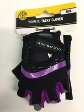Gold's Gym Women's Tacky Gloves M/L Black and Purple NEW