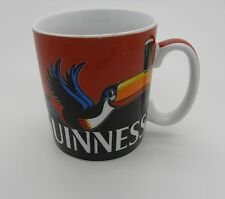 """Guiness official Mug Cup Coffee red black 3.75"""" high signed"""