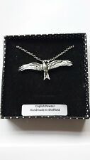 B45 Red Kite Estaño Inglés 3D collar de platino Hecho a Mano 18 pulgadas