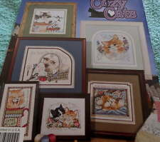 Stoney Creek 6 Cozy CATS Counted Cross Stitch CHART Kitty Kitten Meow PATTERN