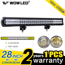 180W 28Inch CREE LED Work Light Bar Combo Offroad Driving Lamp Truck 4WD Jeep