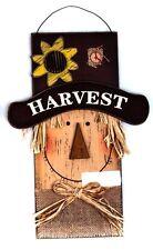 Harvest Scarecrow Wooden Decorative Plaque