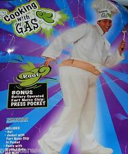 COOKING WITH GAS HALLOWEEN COMICAL COSTUME FART NOISE CHIP POOF  BIG BUTT ADULT