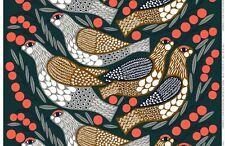 Marimekko fabric Kiiruna brown/red 145x50cm, Aino-Maija Metsola