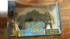Lord Of The Rings Two Towers Sharku With Warg Beast Deluxe Rider Set Toy Biz