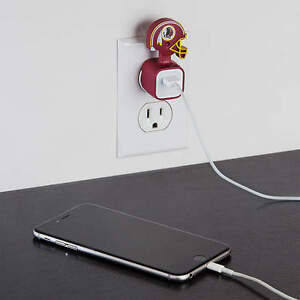 Washington Redskins NFL FATHEAD I-Phone IPhone Charger Champ USB Adapter Sleeve