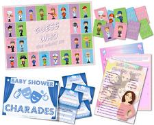 Baby Shower GAME PACK-Chissà Mummia BEST-SCIARADA-Indovina chi-blu-Boy