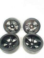 Traxxas 1/7 X01 front Mounted Chrome spoke Wheel Set x4 6477 6479 OZRC