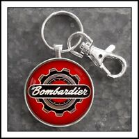 Bombardier SkiDoo Emblem Photo Keychain Snow Machine Ski Doo Snowmobile Gift 🎁