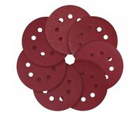 5-Inch 8-Hole Hook and Loop Sanding Discs 40/80/120/180/240 Assorted Grit 50 pcs