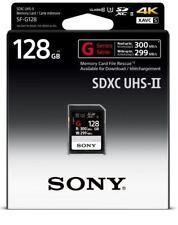Genuine Sony 128GB G-Series SD SDXC Card UHS-II, 300MB/s, Retail Pack, UK Seller
