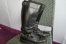 VINTAGE 60'S KOMBI LEATHER MOTORCYCLE BOOTS SIZE 4 MADE IN ENGLAND