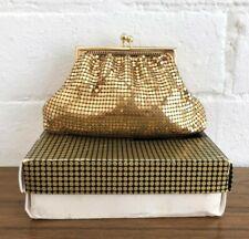 Vintage Gold Glomesh Kisslock Purse Pouce Clutch Bag