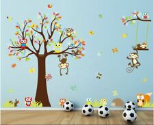 Removable Wall Sticker Zoo Animal Monkey Owl Decal Kids Nursery Baby's room Deco