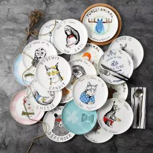 """Sandwich Defender Biscuit Bandit  Animal Ceramic Decorative Children Plates 8"""""""