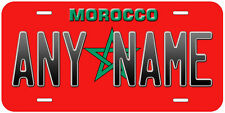 Morocco Flag Aluminum Any Name Personalized Novelty Car License Plate