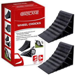 2 x Wheel Chocks Tyre Saver Brake Stoppers Ridged Caravan Motorhome Car Wedges