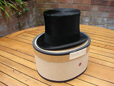 Vintage Top Hat Lock & Co Silk & Felt Dressage Excellent Condition World Ship