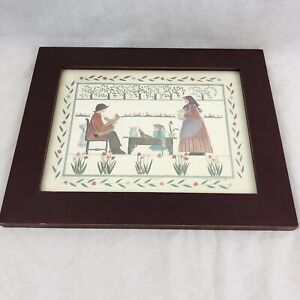 Barbara Bourgeau Richards Tea Time in Garden Limited Edition Print Signed /1000