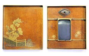 ANTIQUE 18thC JAPANESE EDO PERIOD LACQUER MAKI-E SUZURIBAKO INKSTONE WRITING BOX