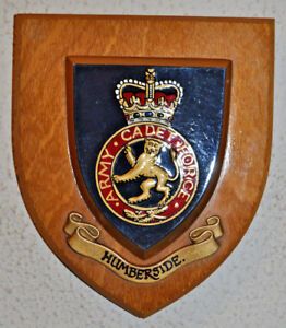 Humberside Army Cadet Force regimental mess wall plaque crest shield ACF