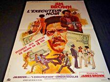 L'EXECUTEUR NOIR ! jim brown blaxploitation affiche cinema 1973