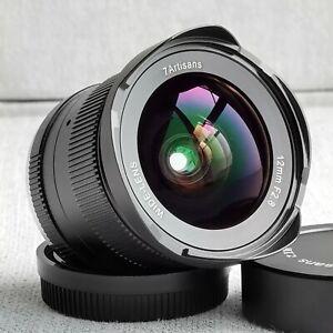 7 Artisans 12mm F2.8Lens APS-C For Fuji  Black 98% NewManual Fixed Lens