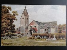 Sussex SOMPTING CHURCH nr Worthing - A.R. Quinton Old Postcard by J. Salmon 1894