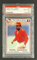 1990 Post Cereal #22 Pedro Guerrero PSA 8.5 NM-MT+ *Only 6 Graded Higher*