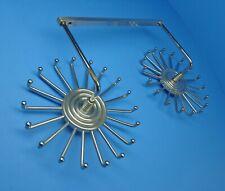Vtg Ty Master? All Chrome Double Wheel Revolving Tie Rack 36 Pegs Total~Scarce!