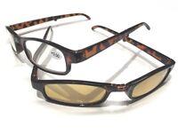 2er Brillen-Set: klappbare Sonnenlesebrille + Lesebrille (je +3,00) in Minibox