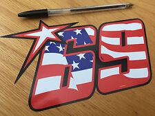 Nicky Hayden No69 American Flag Race Number (Large)