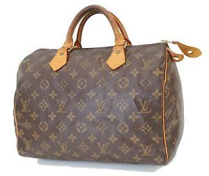 Authentic LOUIS VUITTON Speedy 30 Monogram Boston Handbag Purse #39874