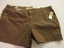 Sonoma Womens Modern Fit  Shorts 24 W Brown   NWT 46 x 5