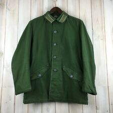 Vintage Swedish M59 Field Military Army Jacket Worker Chore Green M Fitted