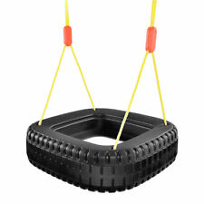 Classic Tire Swing 2 Kids Children Outdoor Play Durable Backyard Swing Set New
