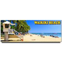 Waikiki beach panoramic Fridge magnet Hawaii travel souvenir Honolulu