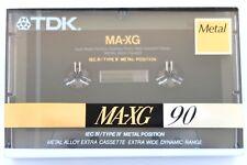 TDK MA-XG 90 METAL POSITION TYPE IV BLANK AUDIO CASSETTE TAPE - JAPAN 1990