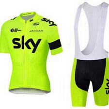 Team Sky Fluorescent cycling short sleeve jersey & Bib Shorts Kit
