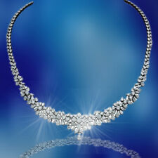 diamond necklace. 20.12 carats of round, pear and marquise shape diamonds 18 k