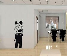 BANKSY KISSING POLICEMEN Decal WALL STICKER Art Home Decor Stencil Cops SST009