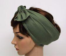 Headband , Tie Up Hair Scarf, Rockabilly Hair Wrap, Stretchy Hair Tie, Bandanna