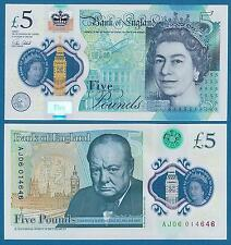 England 5 Pounds P 394 2015 (2016) UNC Polymer CHURCHILL Great Britain UK