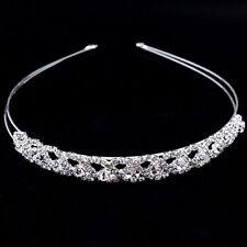 Silver Wedding Bridal Bridesmaid Crystal Diamante Tiara Headband Headpiece
