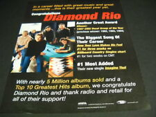 DIAMOND RIO ...their greatest year yet Original 1997 PROMO POSTER AD mint cond