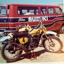 """VINTAGE Suzuki Works  """"S"""" decal sticker set TM RM RA RN RH 125 250 400 465 500"""
