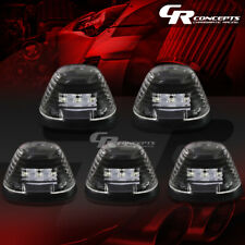 5-PIECE BLACK WHITE LED ROOF TOP LIGHTS+WIRING SET FOR 99-16 F250-F550 TRUCK