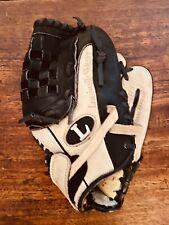 Louisville Slugger Baseball Mitt Left Handed Size 10.5 Black Tan Leather