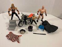 Vintage WCW Wrestling Action Figure & Accessories Lot ToyBiz 1990's